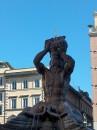 Particolare della Fontana del Tritone