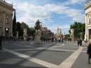 Veduta panoramica di Piazza del Campidoglio