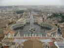Panorama dall'alto di Piazza di S. Pietro