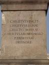 Scritta sulla base dell'Obelisco