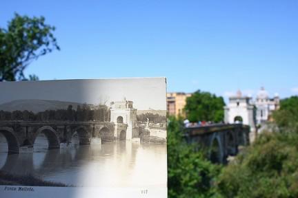 Ponte Milvio ieri ed oggi