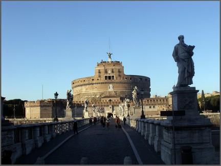 PR Vista del Ponte con le statue degli Angeli e San Paolo