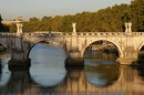 Ponte Sant'Angelo e il fiume Tevere