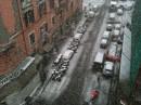 La neve sulle strade di Roma