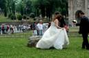 Fotografie agli sposi al Colosseo