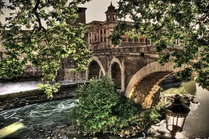 Ponte Fabricio sull'Isola Tiberina