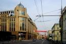 Distruzione del centro storico di Mosca Il nuovo Voyentorg e la sua cupola dorata