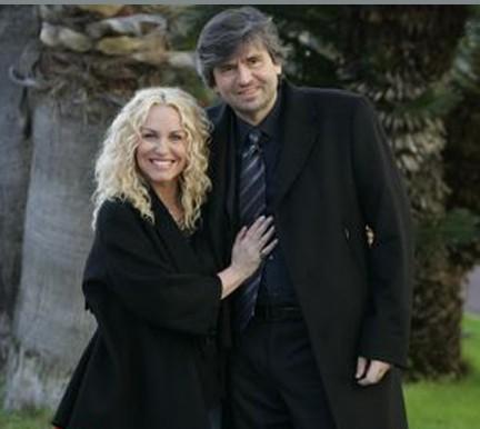 Antonella Clerici e Gianmarco Mazzi alla presentazione di Sanremo