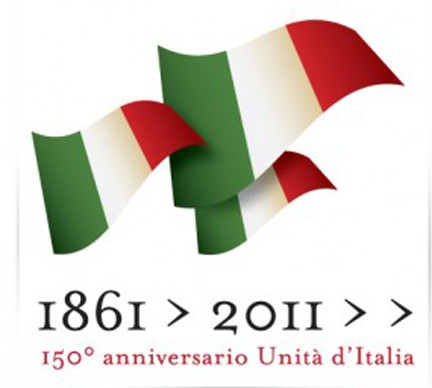 Il logo delle celebrazioni dei 15o anni dell'Unità Nazionale