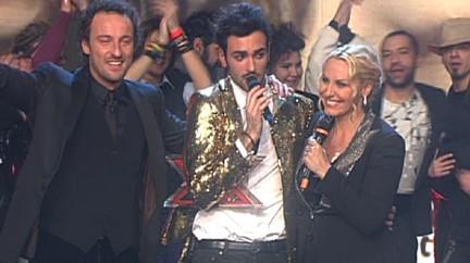 Antonella Clerici e Marco Mengoni durante X Factor 2009