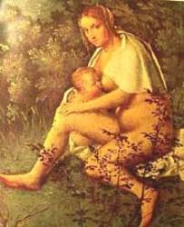 seno allattare giorgione la tempesta simboli
