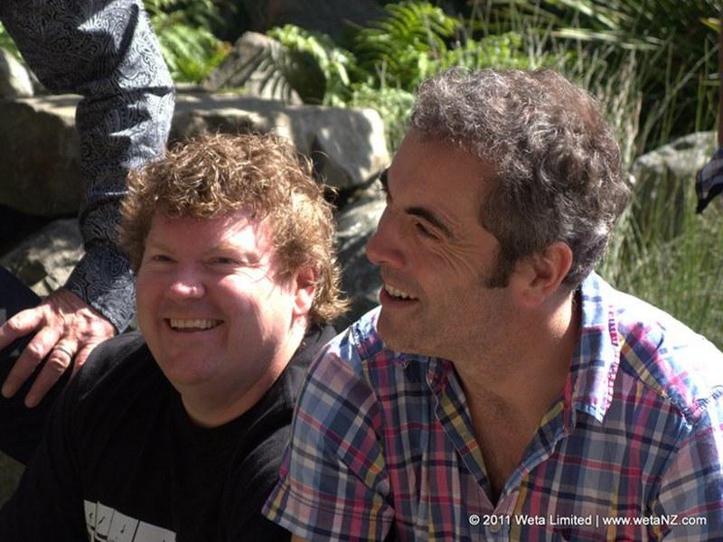 Stephen Hunter (Bombur) e James Nesbitt (Bofur)