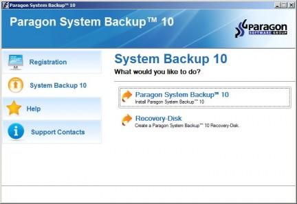 Paragon System Backup