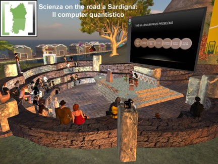 "Una conferenza di ""SCIENZA ON THE ROAD"" in Second Life"