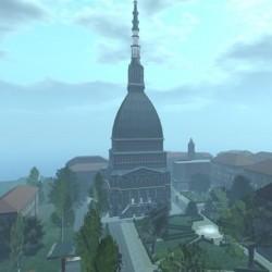 Torino vera e la Mole Antonelliana in Second Life
