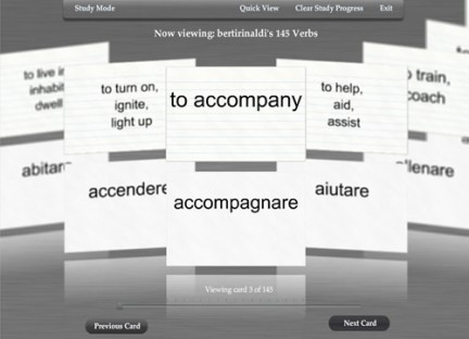 FlashCard: verbi