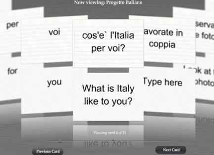 FlashCard: progetto Italiano