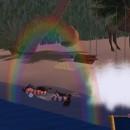 Al mare sotto l'arcobaleno