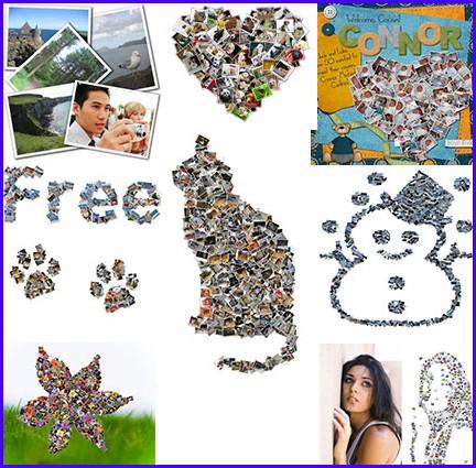 collages di foto con shape collage
