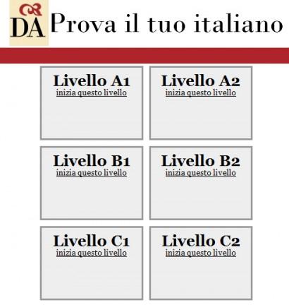 test di italiano per stranieri