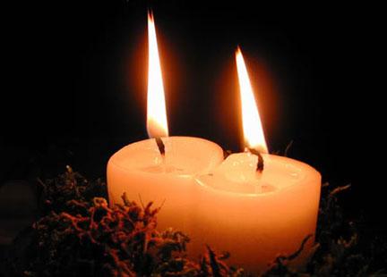 candele solstizio d'inverno