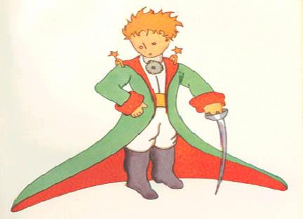 piccolo principe collage del bambino magico
