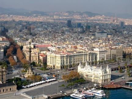 Vista panoramica di Barcellona