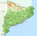 Catalogna mappa fisica