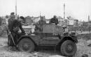 Scout car Daimler esaminata dai tedeschi, Dieppe 1942