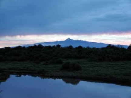 sunrise at mount kenya