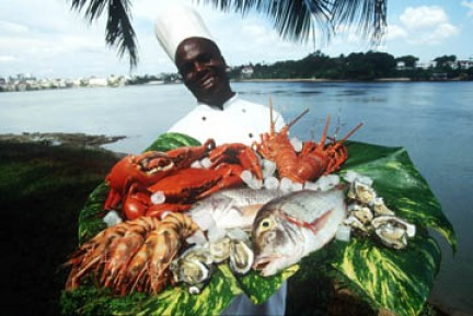 specialità di mare al Tamarind restaurant