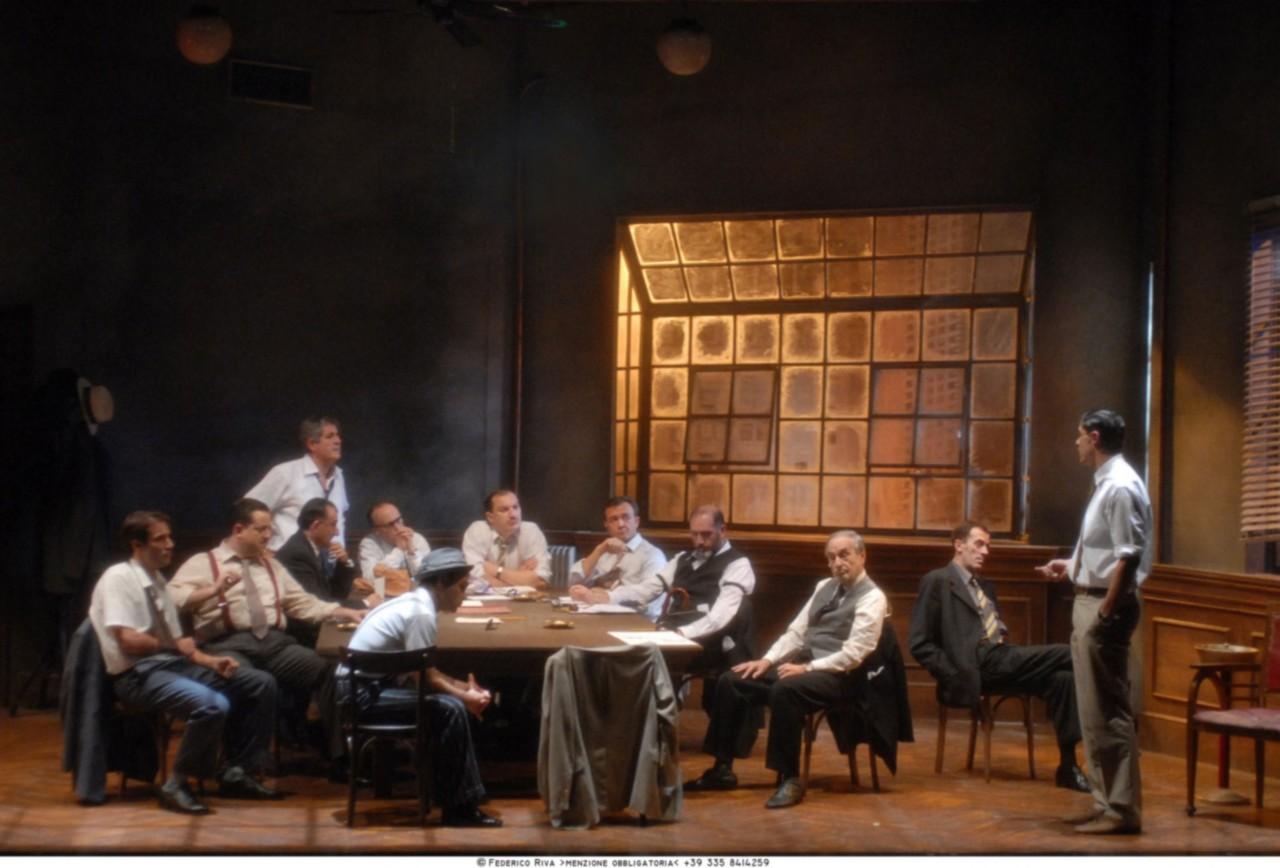 La parola ai giurati: lo spettacolo di Alessandro Gassman nelle foto di Federico Riva