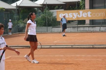 Flavia Pennetta in campo