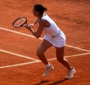 Flavia Pennetta in campo