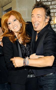 Bruce Springsteen e sua moglie Patty Scialfa