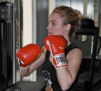 Lindsay Lohan versione pugile