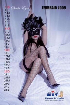 Sonia Eyes Sexy Calendario 2009