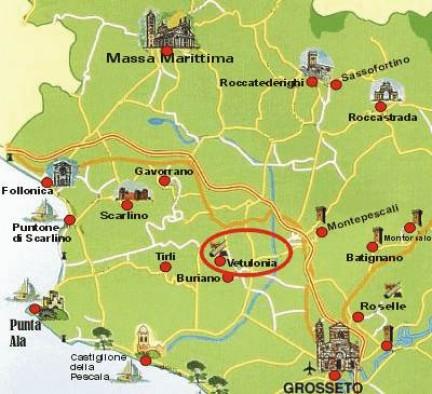 Mappa di Vetulonia