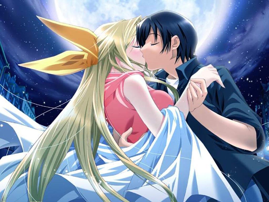 Anime Couples Kissing