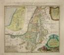 Mappa della Terra Santa: Israele e Palestina