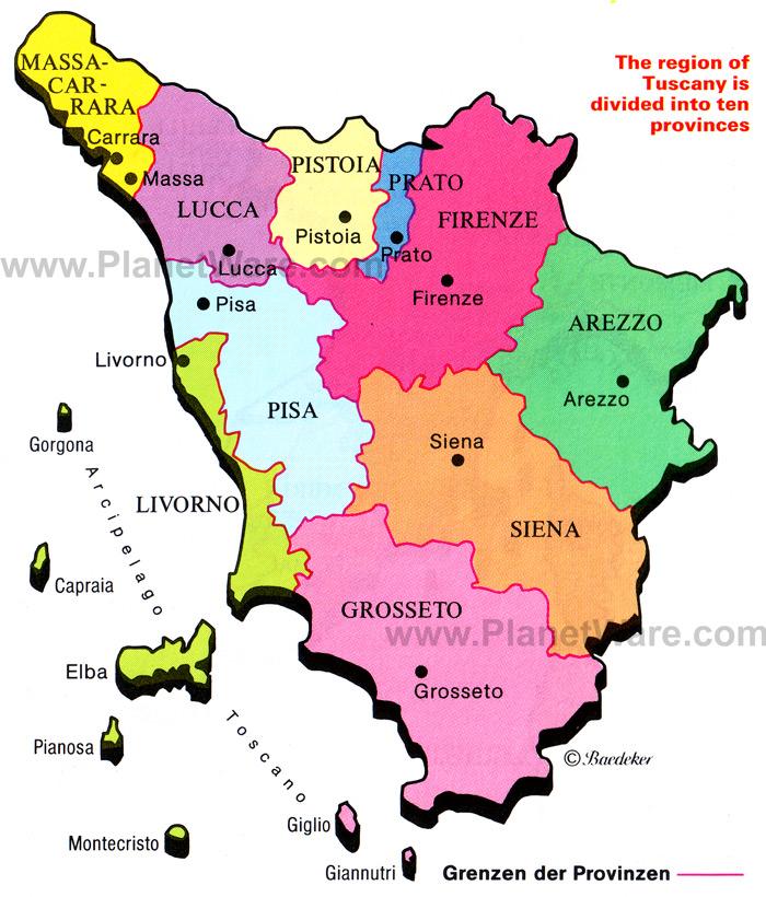 Cartina D Italia Con Capoluoghi Di Regione.Le Regioni D Italia