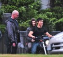 Kristen Stewart, Robert Pattinson e Taylor Lautner sul set di Eclipse