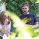 Kristen e Robert sul set di On the road