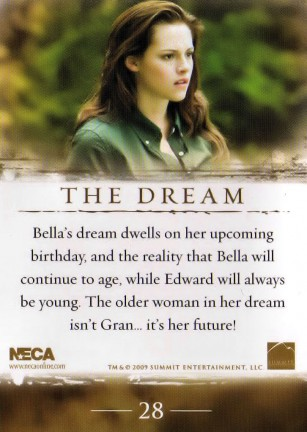 New Moon riassunto del film tramite le cards NECA