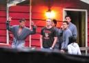 Peter Facinelli sul set a Vancouver insieme agli attori che interpretano i Quileute