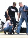 Robert, Kristen e Taylor: set Breaking Dawn