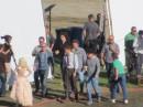 Robert Pattinson sul set di Water for elephants