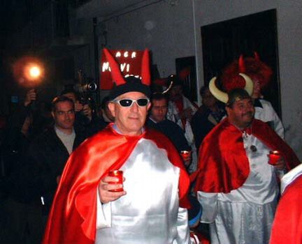 ruviano, processione dei cornuti