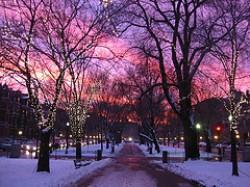 Boston al tramonto