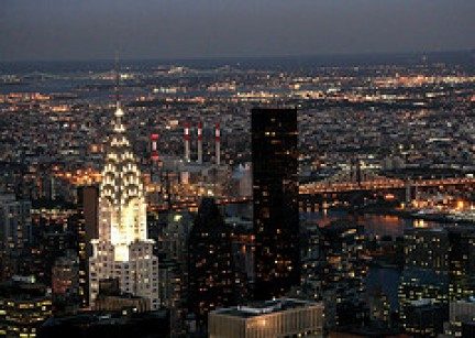 Le luci del Chrysler Building